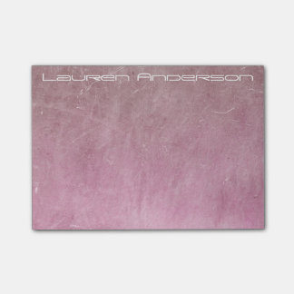 Modern Grungy Pink Gray Cement Wall Personalised Post-it® Notes