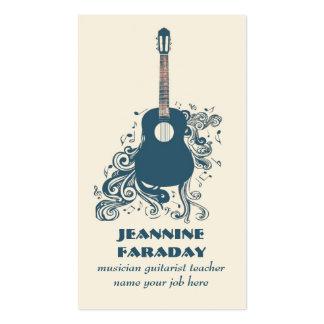 modern guitar music business card