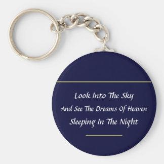 Modern Haiku Keychain (Navy Blue)