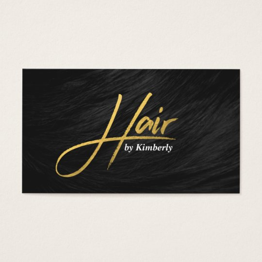 Modern hair stylist chic gold script appointment business