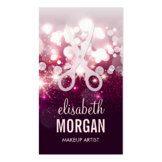 Modern Hair Stylist - Pink Glitter Sparkle Pack Of Standard Business Cards