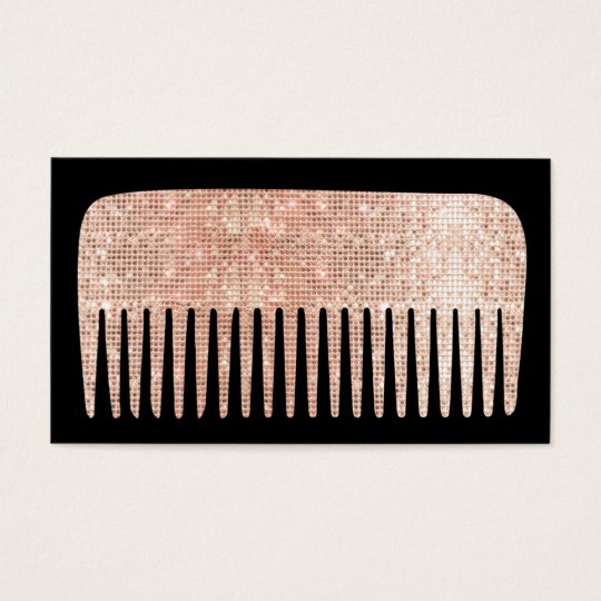 Modern Hair Stylist Rose Gold Salon Comb Business