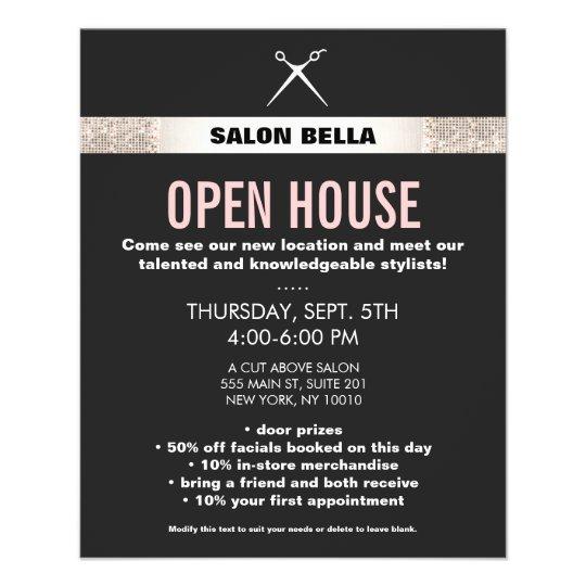 Modern Hair Stylist Scissors Silver Sequins Salon 11.5