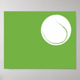 Modern Hand Painted Tennis ball Art - 1 of 6 Poster