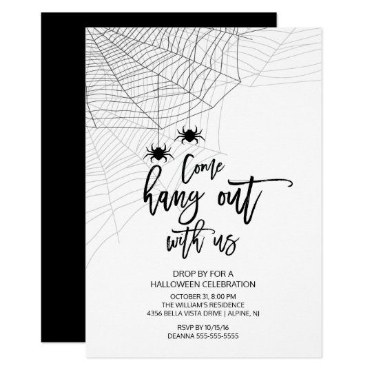 Modern Hang out with us Spider Halloween Party