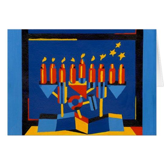Modern Hanukkah Lamp Card