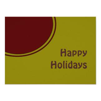 Modern Happy Holidays 17 Cm X 22 Cm Invitation Card