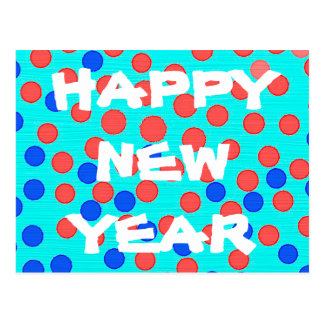 Modern Happy New Year Postcard