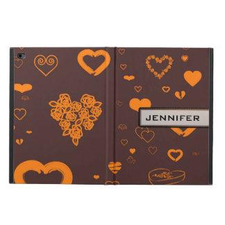 Modern Heart Elegant Orange Brown Powis iPad Air 2 Case