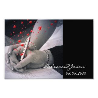 modern hearts Lovers Las Vegas Wedding Art Photo