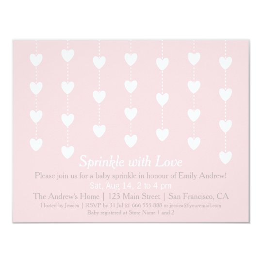 Modern Hearts Sprinkle with Love Invitations