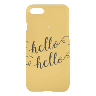 Modern Hello  Floral iPhone 7 Clear Case