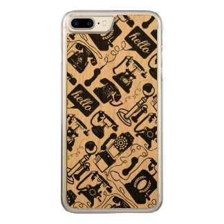 Modern Hello on Wood Carved iPhone 8 Plus/7 Plus Case