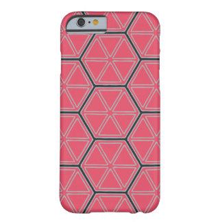 Modern Hexagonal  Pattern Barely There iPhone 6 Case