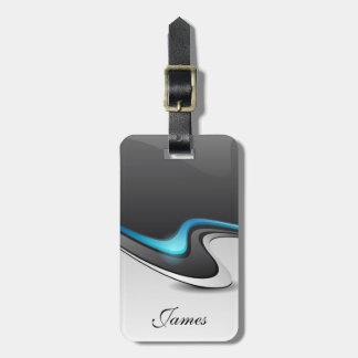 Modern Hi-Tech Waves Luggage Tag