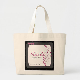 Modern High Style Black Grey Pink Large Tote Bag