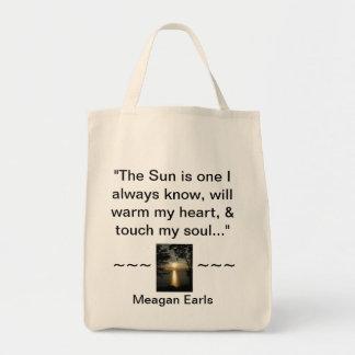 Modern Hippie Bohemian Free-Spirit Gifts Grocery Tote Bag
