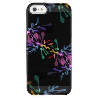 Modern Hippie Rainbow Fireworks Print Clear iPhone SE/5/5s Case
