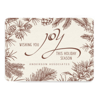 Modern Holiday Botanical Woodland Branches 13 Cm X 18 Cm Invitation Card