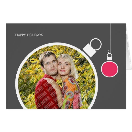 Modern Holiday Card Photo Template