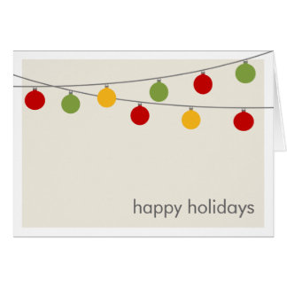 Modern Holiday Christmas Ornaments Greeting Card