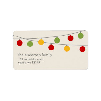 Modern Holiday Christmas Ornaments Label
