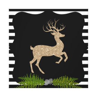 Modern Holiday Deer Canvas Print