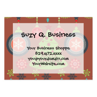 Modern Holiday Merry Christmas Tree Snowflakes Pack Of Chubby Business Cards
