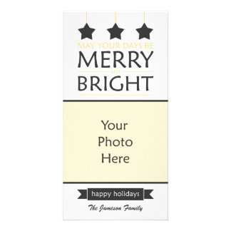 Modern Holiday Personalised Photo Card