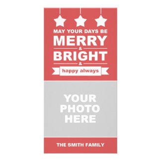 Modern Holiday Personalized Photo Card