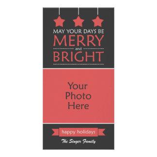 Modern Holiday Photo Greeting Card