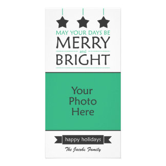 Modern Holiday Picture Card