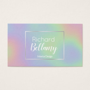 Metal business cards business card printing zazzle uk modern holographic rainbow metal business card reheart Gallery