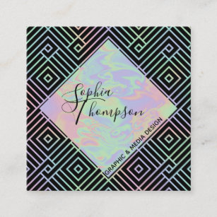 Hologram business cards business card printing zazzle uk modern holographic symmetric pattern business card colourmoves