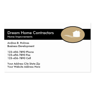 Modern Home Building Contractors Pack Of Standard Business Cards