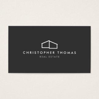 Modern Home Logo on Gray for Real Estate, Realtor