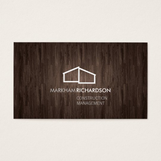 Modern Home Logo on Wood for Construction, Realtor