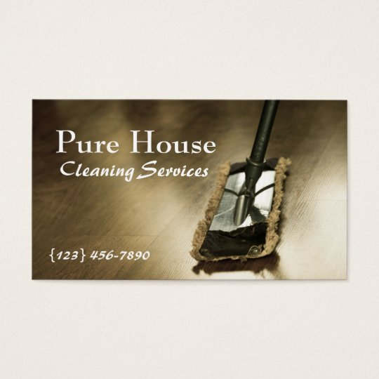 Modern Home, Office Cleaning Company Business Card