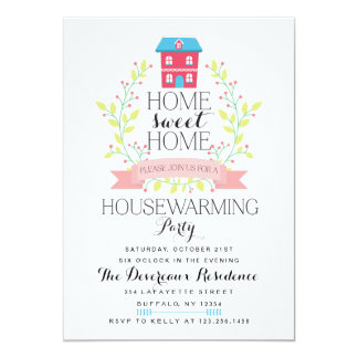 Modern Home Sweet Home Housewarming Party Card