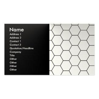 Modern honeycomb business card template