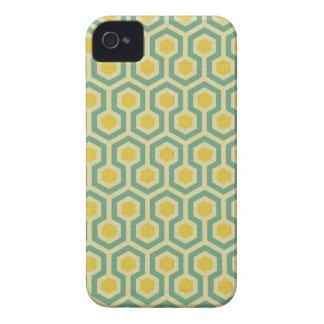 Modern honeycomb geometric tribal pattern print Case-Mate iPhone 4 cases