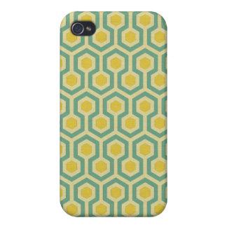 Modern honeycomb geometric tribal pattern print cover for iPhone 4