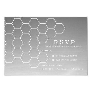 Modern Honeycomb | RSVP 9 Cm X 13 Cm Invitation Card