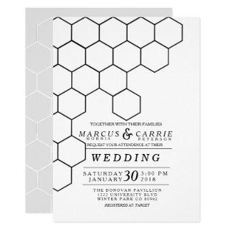 Modern Honeycomb Wedding 13 Cm X 18 Cm Invitation Card