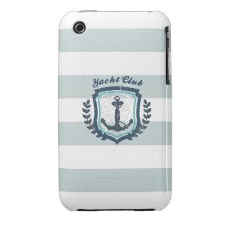 Modern Horizontal Stripe Glittler Look Bling Mod iPhone 3 Cases