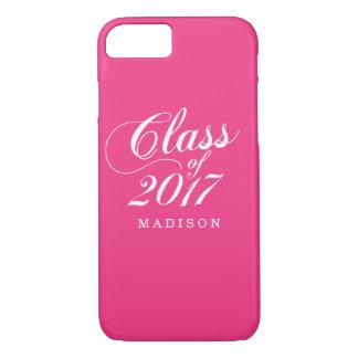 Modern Hot Pink | Graduation iPhone 8/7 Case