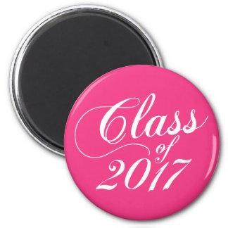 Modern Hot Pink | Graduation Magnet