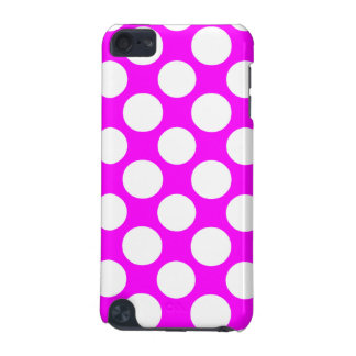 Modern Hot Pink White Polka Dots Pattern iPod Touch (5th Generation) Covers