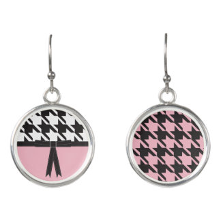 Modern Houndstooth Earrings