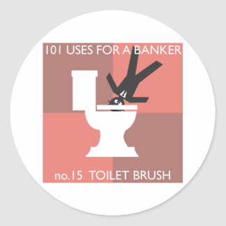 modern hygiene explained classic round sticker